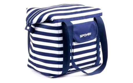 Chladící taška Spokey SAN REMO plážová termo, pruhy, 52 x 20 x 40 cm námořnícká modrá
