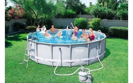 Bazén Bestway Steel Frame Pool 488 x 122 cm + Bazénové chemie za zvýhodněnou cenu + Doprava zdarma