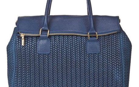 Modrá kožená kabelka Edmond Louis Amara - doprava zdarma!