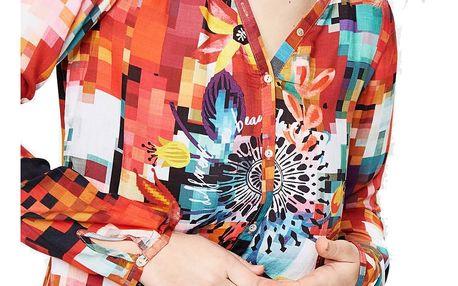 Desigual barevná košile Begoňa - XXL