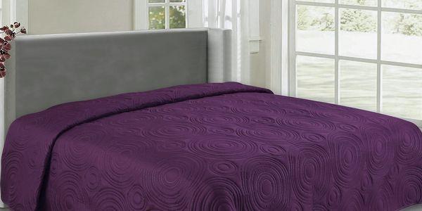 Přehoz na postel REFLECTION 240x260 cm fialová ESSEX