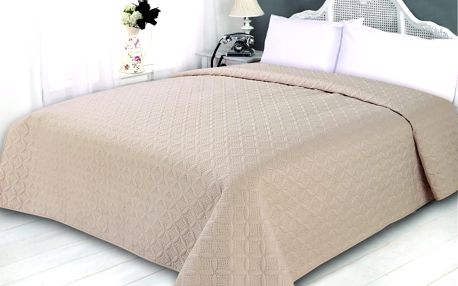 Přehoz na postel SONIC 220x240 cm béžová ESSEX