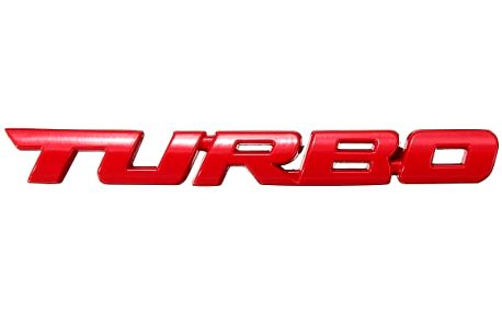 3D samolepka na auto - TURBO