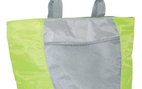 Chladící taška Calter plážová SP 20L stříbrná/zelená