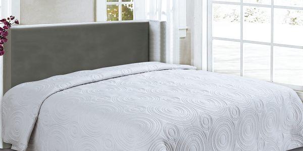 Přehoz na postel REFLECTION 220x240 cm světle šedá ESSEX