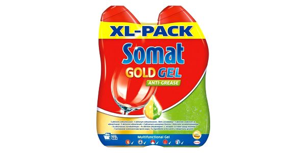 Somat Gold gel AntiGrease 2 x 600 ml2