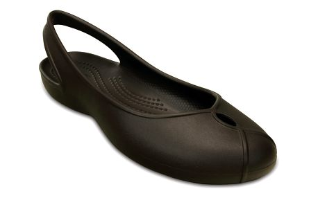 Crocs hnědé boty Olivia II flat Espresso - W8