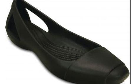 Crocs černé baleríny Sienna Flat W Black s matnou špičkou - W6