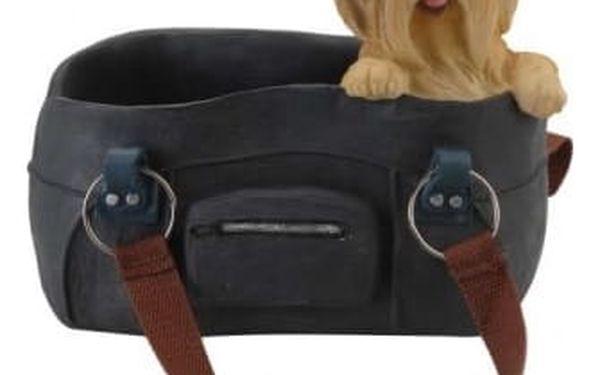Dekorace / držák na víno pes v kabelce jorkšír ProGarden KO-095500240jork