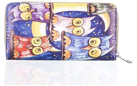 Dámská peněženka s potiskem soviček umělá kůže Casual PN0086-04