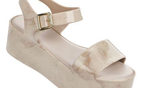 Melissa béžové mramorové sandály na platformě Mar Beige - 40