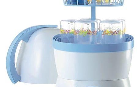 Sterilizátor NUK Vapo elektrický 2v1 bílý/modrý