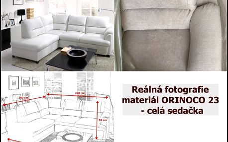 BENIX sedací souprava GUSTO - materiál ORINOCO 23 - kávová