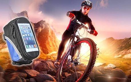 Cyklobrašna - kvalitní voděodolné, polstrované pouzdro pro mobil a další věci, které s sebou vozíte na kole. Rozměry jsou kompatibilní téměř se všemi běžnými mobily a dovnitř tašky se vejde i malá svačinka.