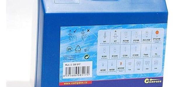 Autožárovka Compass 12 V servisní box MEGA H1 + H7 + pojistky3