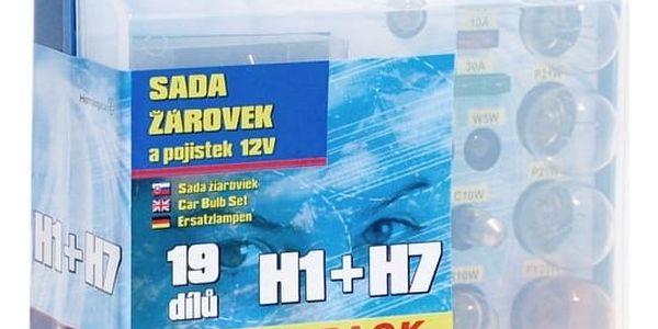 Autožárovka Compass 12 V servisní box MEGA H1 + H7 + pojistky4