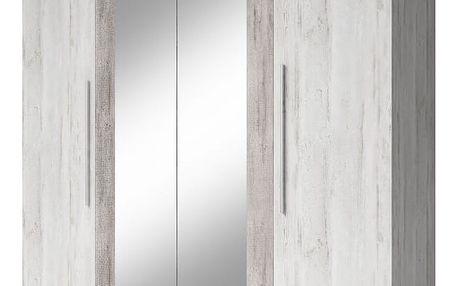 HELVETIA VERA - Šatní skříň se zrcadlem (20)