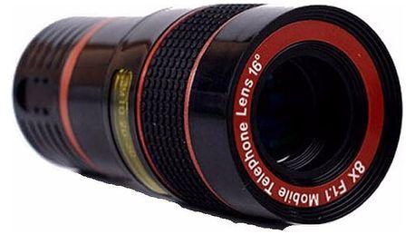 Teleskopický objektiv pro smartphony - 8x zoom