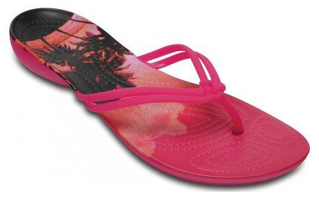 Crocs dámské růžové žabky Isabella Graphic Candy Pink