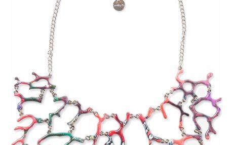 Desigual barevný náhrdelník Boho Mix Coral