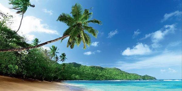 1Wall 1Wall Vliesová fototapeta Exotická pláž 366x253 cm2