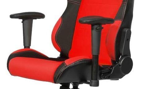 Herní židle Arozzi TORRETTA (TORRETTA-RD) černá/červená + DOPRAVA ZDARMA