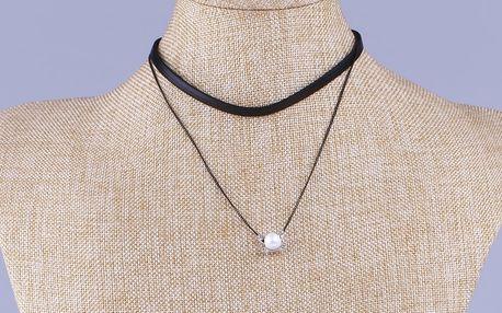 Fashion Icon Náhrdelník choker s perlou