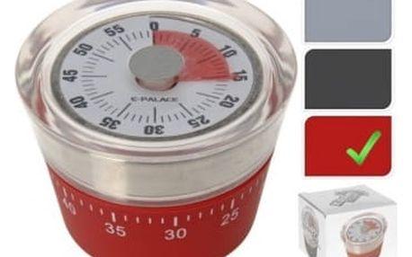 Minutka mechanická červená EXCELLENT KO-CY4652220cerv