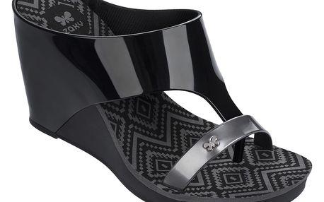 Zaxy černé boty na klínku Glamour Top III Fem Black