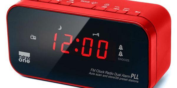 Radiobudík NEW ONE CR120R červený2