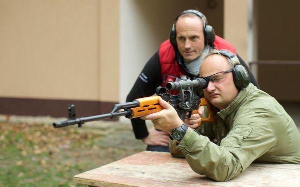 Střílení na venkovní střelnici5