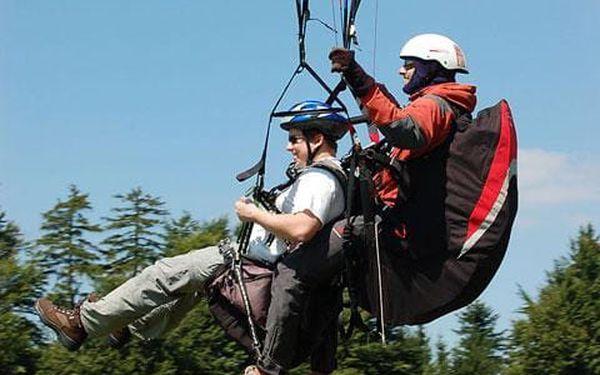 Tandem paragliding, čistý let cca 15 minut, počet osob: 1 osoba, Moravskoslezské Beskydy (Moravskoslezský kraj)3