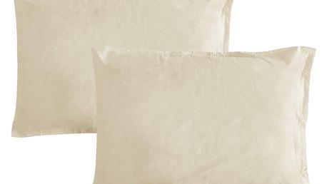 Gipetex Natural Dream Povlak na polštář italské výroby 100% bavlna - 2 ks krémová