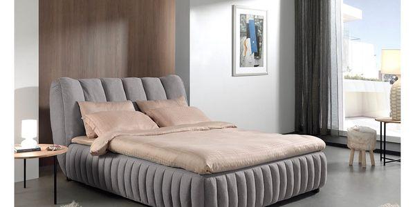 Šedá dvoulůžková postel Sinkro Michelle, 160x200cm - doprava zdarma!2