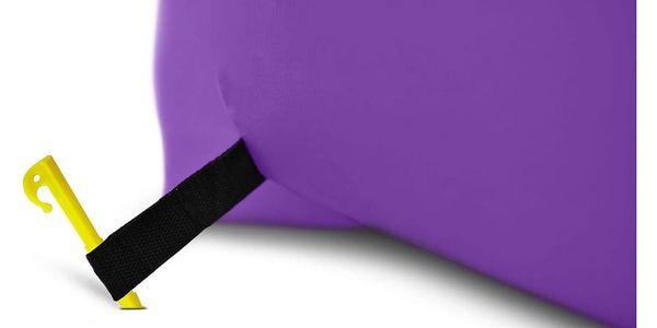 Sedací nafukovací vak BANANA BAG fialová3