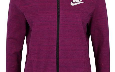 Tmavě růžová dámská mikina s kapucí Nike