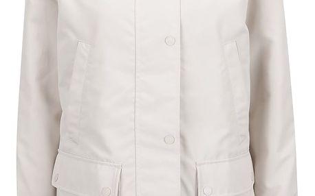 Krémová dámská bunda s kapucí a kapsami Geox