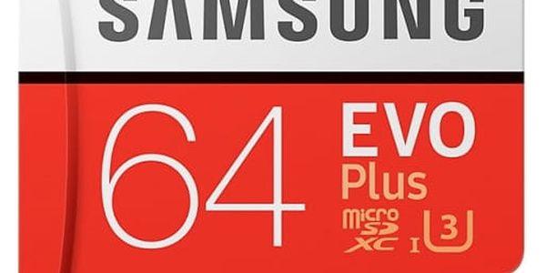 SDXC karta 64GB EVO Plus (Class10 UHS-3)+SD adaptér