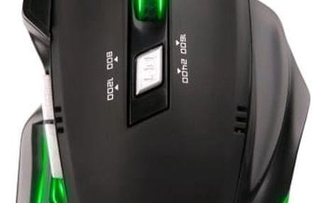 Myš C-Tech Akantha (GM-01G) černá/zelená