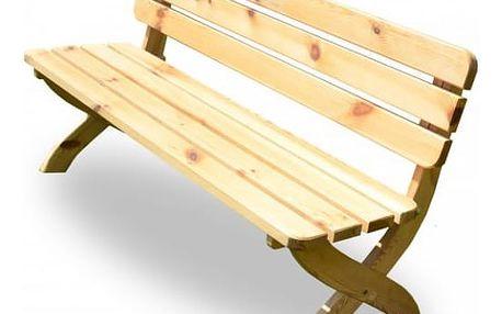 Zahradní dřevěná lavice STRONG přírodní FSC 150 cm