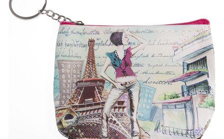 Peněženka Paříž mini na drobné mince růžová