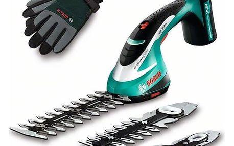 Nůžky na trávu Bosch ASB 10,8 Li set s rukavicemi + DOPRAVA ZDARMA
