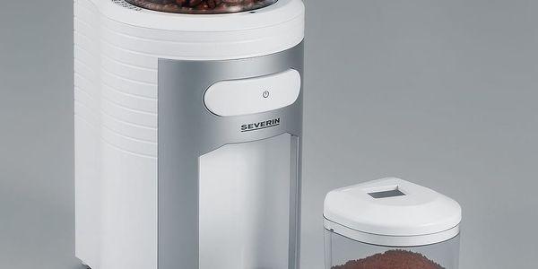 Kávomlýnek Severin KM 3873 stříbrný/bílý4