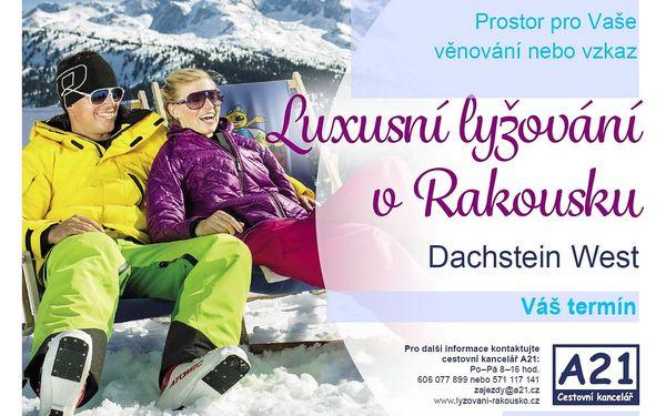 Lyžování v Rakousku Dachstein West vše v ceně hotel wellness polope..., Dachstein West, vlastní doprava, polopenze3