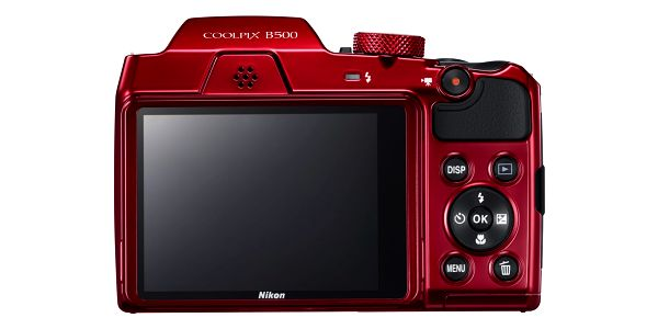 Digitální fotoaparát Nikon Coolpix B500 červený2