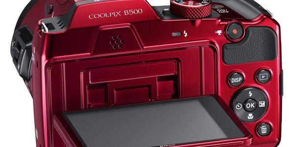 Digitální fotoaparát Nikon Coolpix B500 červený3