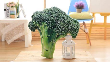 Originální polštář ve tvaru brokolice