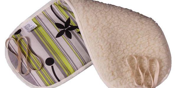 2G Lipov Bederní ledvinový pás Merino ovčí vlna 56x23cm
