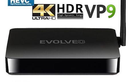 EVOLVEO Android Box H4, Quad Core 4K multimediální centrum