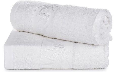 Jahu dárková sada ručníků bambus Hanoi bílá